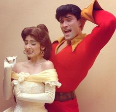 Belle and Gaston Disney Face Characters!
