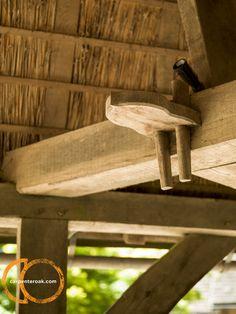 Oak frame detail in porch Wood Shelves, Porch, Detail, Building, Frame, Diy Wood Shelves, Balcony, Picture Frame, Wooden Shelves