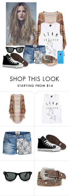 """""""4 days of school left? We'll screw it, I don't care!"""" by breakingtherose ❤ liked on Polyvore featuring ONLY, Converse, Ray-Ban, women's clothing, women, female, woman, misses and juniors"""