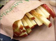 "Quick and Easy Snack Recipe - Baked Apple ""Fries"" 