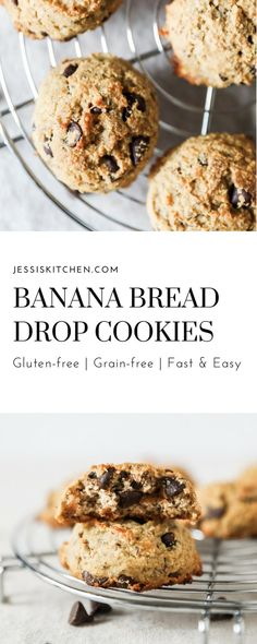 Banana Bread Drop Cookies