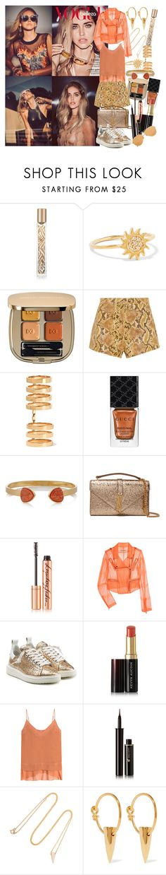 """""""We are stars wrapped in skin, the light you are looking for has always been within"""" by brownish ❤ liked on Polyvore featuring Chiara Ferragni, AERIN, Aamaya by Priyanka, Dolce&Gabbana, Topshop Unique, Repossi, Gucci, Dara Ettinger, Yves Saint Laurent and Charlotte Tilbury"""