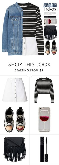 """""""~Denim Trend: Jean Jackets~"""" by amethyst0818 ❤ liked on Polyvore featuring Miss Selfridge, TIBI, Dr. Martens, Gucci and MANGO"""