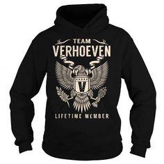 Awesome Tee Team VERHOEVEN Lifetime Member - Last Name, Surname T-Shirt T shirts
