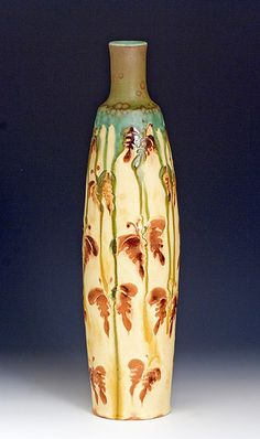 Butterfly Vase - Samantha Henneke - this vase is part of the By Example- NC Potters and their Mentors Exhibition at the Green Hill Art Center, Greensboro, North Carolina, summer of 2012