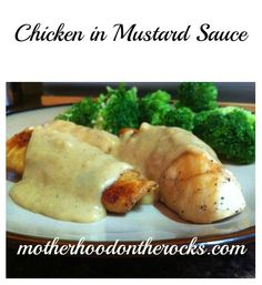 Chicken in Mustard Sauce #Recipe - Weight Watchers friendly