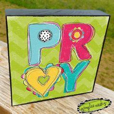 Doodle Words - Pray,