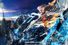 Anime: Guilty Crown Really good anime in my opinion. Genre: Action, Drama, Sci-fi, Romance, Super power. Length: 22 Episodes