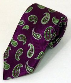 NWOT Men's Robert Talbott Best of Class Nordstrom Purple Paisley 100% Silk Tie
