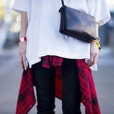 la modella mafia Fall 2013 grunge plaid trend with minimalism and Celine