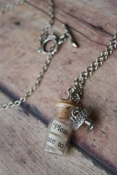 vial pendant necklace - love the idea of putting a note inside the vial