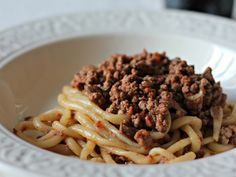 pici pasta and ragu in Tuscany
