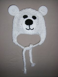 PATTERN Baby Crochet Polar Bear hat with earflaps pattern INSTANT DOWNLOAD on Etsy, $3.00