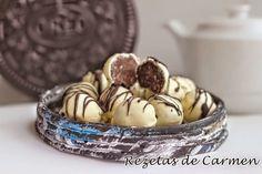 Cocineros del Mundo: Las Recetas del Reto de Abril 2015 Acelga o Chocolate Trufas de oreo y chocolate blanco del blog Rezetas de Carmen
