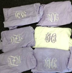 Set of 6 Oversized Monogrammed Bridal Shirt-Perfect for Weddings and Bridemaids