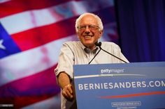 U.S. Senator Bernie Sanders, an independent from Vermont and 2016 Democratic presidential candidate, smiles during a campaign event at the Los Angeles Memorial Sports Arena in Los Angeles, California, U.S., on Monday, Aug. 10, 2015. Some 27,000 people descended Monday night on the Los Angeles Memorial Sports Arena, which has hosted acts such as Madonna and Pink Floyd, to hear from a 73-year-old who has become the 2016 political season's breakout star. Phot Patrick T. Fallon/Bloomberg