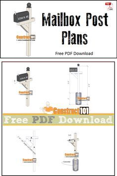 Mailbox post plans diy step by step plans mailbox post mail mailbox post plans free pdf download step by step instructions and solutioingenieria Choice Image