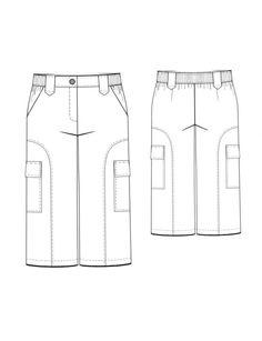 Fashion Designer Sewing Patterns - Cropped Cargo Pants