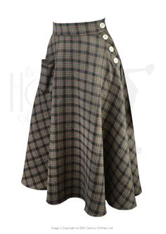 Whirlaway Skirt - Sage Check Jahre Stil Whirlaway Swing Dance Rock in Salbei Check Hip Hop Outfits, Dance Outfits, Cute Outfits, 1940s Fashion, Vintage Fashion, Club Fashion, Swing Dance Dress, Swing Dancing, Vintage Outfits