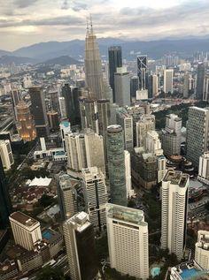 Kuala Lumpur, Malaysia 🇲🇾 - stunning view Stunning View, Kuala Lumpur, San Francisco Skyline, New York Skyline, Travel, World, Viajes, Destinations, Traveling