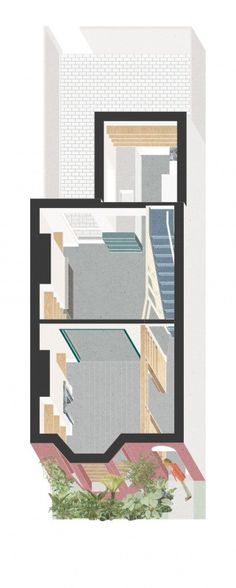 Aerial orthographic projection of inside an apartment