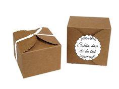 Schachteln natur, 2 Stck., Paperflair.de