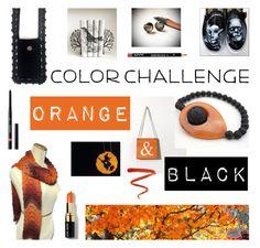 """Orange & Black"" by crochetnecklaces ❤ liked on Polyvore featuring Vans, Bobbi Brown Cosmetics, Ellis Faas, Guerlain, NYX, orangeandblack and colorchallenge"