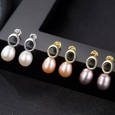 New Arrival Jewellery Hot Sell Trendy Pearl 925 Sterling Silver Ladies`Stud Earrings Valentine's Day Gift Wholesale