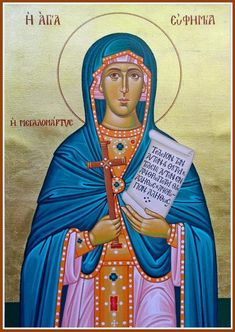 On Taking up the Cross: Homily for the Sunday After the Elevation of the Cross and for the Commemoration of the Holy Great Martyr Euphemia in the Orthodox Church – Eastern Christian Insights Catholic Saints, Roman Catholic, Byzantine Icons, Religious Images, Art Icon, Orthodox Icons, Praise The Lords, Christian Faith, Christianity
