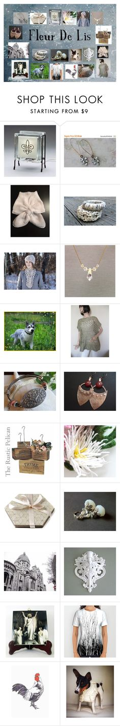 """Fleur De Lis: Elegant Etsy Finds"" by paulinemcewen ❤ liked on Polyvore featuring Hostess"