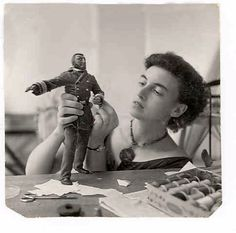 """Martha Armstrong-Hand created the tiny costumes for the figures for """"20,000 Leagues Under the Sea"""" Viewmaster"""" reels"""