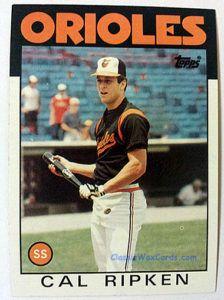 1986 Topps Cal Ripken baseball card