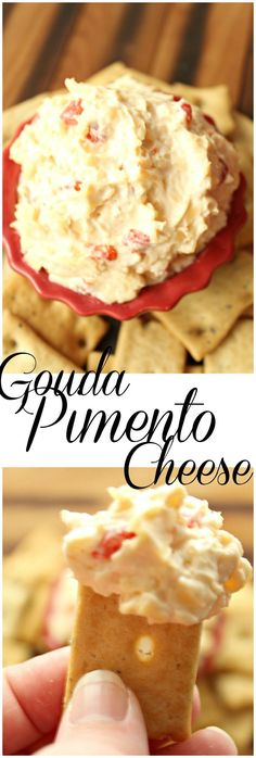 Gouda Pimento Cheese is an awesome twist on a favorite snack that is perfect for the Spring and Summer seasons outside. So delicious and easy to make! | gouda pimento cheese | pimento cheese | gouda cheese | pimento cheese recipe | appetizer | appetizers | summer snacks |