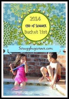 2014 End of Summer Bucket List