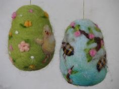 Needle felted easter goose egg blue make to order by Made4uByMagic