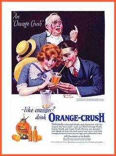 1921 -   'OrangeCrush'   Ward's Orange Crush, Lemon Crush and Lime Crush.  Art by Norman Rockwell