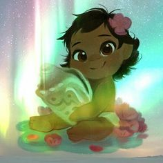 Baby Moana. So cute! Kudos to the artist, whoever they are.