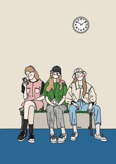 ㅎㅎ woman within coat sale - Woman Coats Simple Illustration, Character Illustration, Ligne Claire, Art Anime, Korean Art, Cute Cartoon Wallpapers, Illustrations And Posters, Copics, Graphic