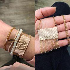 Ensemble nude #sautoir #collier #bracelet #nude #bijoux #jewelrygram #createur #creation #faitmain #handmade #diy #jenfiledesperlesetjassume #miyuki #perlesandco #strasbourg #photooftheday