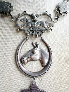 Hold Your Horses Vintage Repurposed Necklace by PaulaMontgomery, $350.00