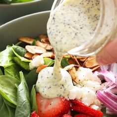 Homemade Poppyseed Dressing Recipes Looking for a healthy homemade salad dressing to make? Try our poppyseed dressing recipe. It's made with olive oil, lemon juice,&. Poppy Seed Dressing Healthy, Poppyseed Dressing Recipe, Sweet Salad Dressings, Salad Dressing Recipes, Chutney, Vegan Dishes, Healthy Recipes, Ketogenic Recipes, Healthy Salads