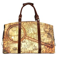 InterestPrint Vintage Retro World Map Waterproof Fabric Classic Travel Duffle Bag -- Check this awesome product by going to the link at the image.