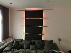 Wandgestaltung mit Lichtefekt