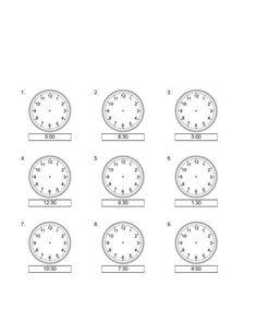 Nauka zegara - dorysuj wskazówki 1 - do drukowania za darmo. Nauka zegara online dla dzieci młodszych i starszych. Karty pracy dla nauczycieli do pobrania. Math School, Worksheets, Clock, Education, Watch, Clocks, Literacy Centers, Onderwijs, Learning