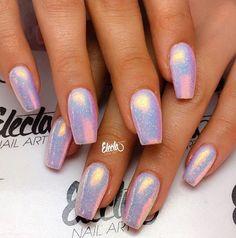 Shiny holographic nails