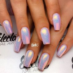 Shiny holographic nails