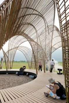 Forest Pavilion, Taiwan - nArchitects #bamboo