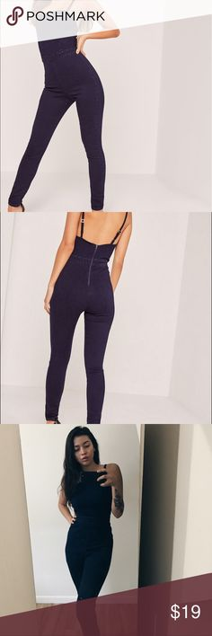 denim jumpsuit very trendy denim jumpsuit, perfect to wear on its own or with tops under it Missguided Jeans Skinny
