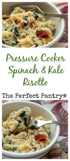 Make this risotto in less than 30 minutes: no stirring! #vegetarian #glutenfree [from ThePerfectPantry.com]