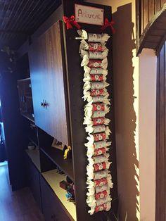 Saját készítésű egyedi karácsonyi adventi naptár :) Mindegyik szám ajándékot rejt :) Christmas Decorations, Holiday Decor, Ladder Decor, Advent Calendar, Home Decor, Advent, Decoration Home, Room Decor, Advent Calenders
